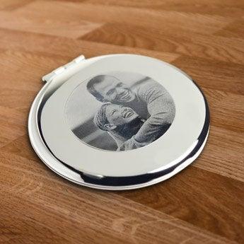 Taschenspiegel rund - Gravur