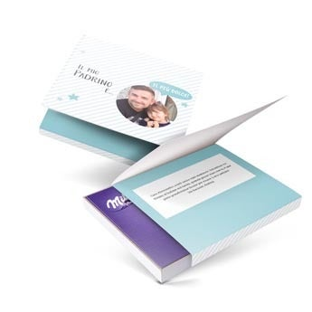Milka giftbox - Padrino - 110 gr (cuore)