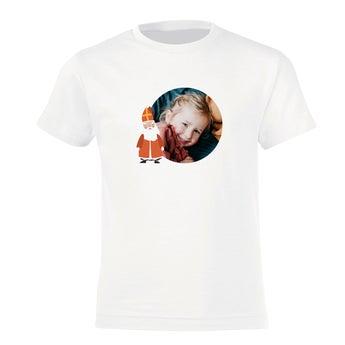 T-shirt enfant Saint-Nicolas - blanc - 8 ans