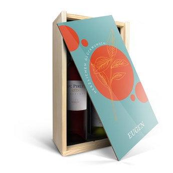 Luc Pirlet Merlot & Chardonnay - in Holzkiste