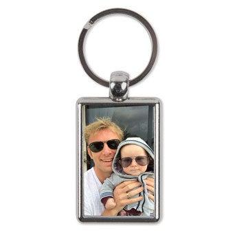 Porta-chaves de face dupla com foto