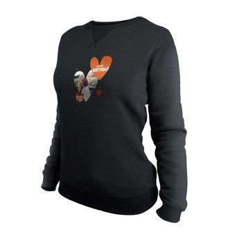 Brugerdefineret sweatshirt - Kvinder - Sort - M