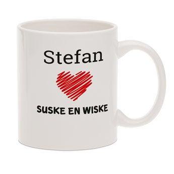 Suske & Wiske mok met tekst