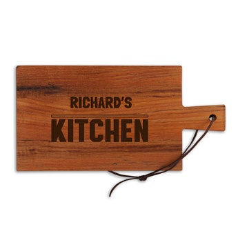 Wooden cheese board - Teak - Rectangle - Landscape (S)
