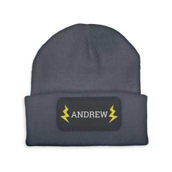 Custom czapka - szara