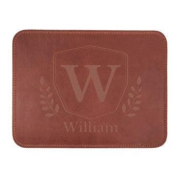 Custom leather mousepad - Brown