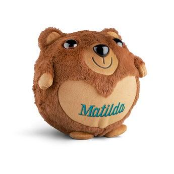 Uppblåsbar teddybjörn med namn