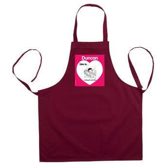 Miłość jest .. fartuch kuchenny - Bordowy