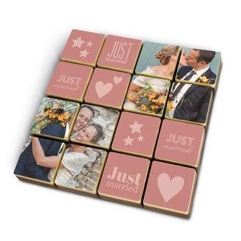 Puzzle photo en chocolat personnalisé