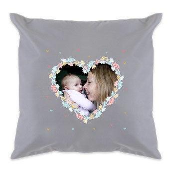 Kissen Muttertag -  Hellgrau