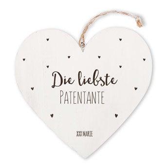 Holzherz - Patentante