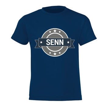 T-shirt - Kids - Navy - 10 jaar