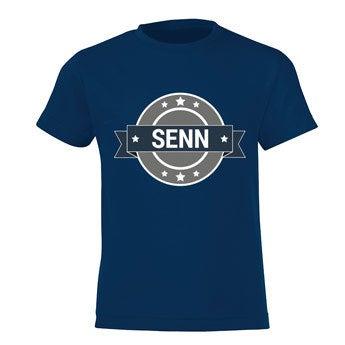 T-shirt - Kids - Navy - 12 jaar