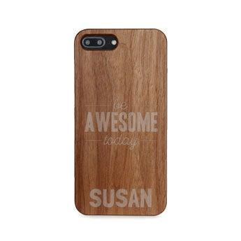Caixa de telefone de madeira - iPhone 8 plus