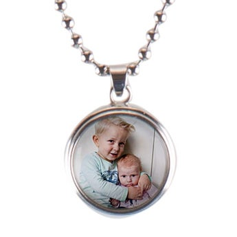 Click Pendant Necklace - 15mm