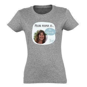 Moederdag T-shirt - Grijs - L