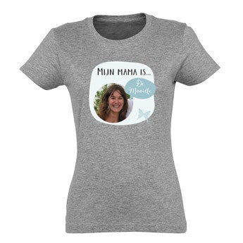Moederdag T-shirt - Grijs - XL