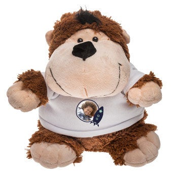 Personalised cuddly toy with photo - Monkey