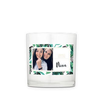 Kerze im Glas selber gestalten - 8 x 9 x 9 cm