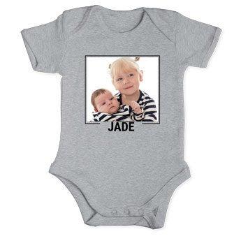Body bébé - Manches courtes - Gris -  50/56