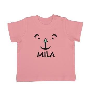 T-shirt bébé - Manches courtes - Rose pâle