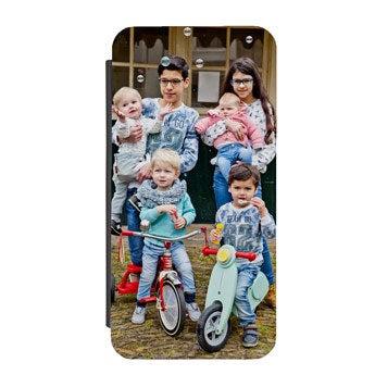 Flip telefoonhoesje met foto
