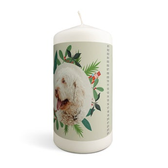 Christmas advent candles