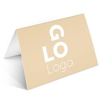 Klappkarte mit Logo