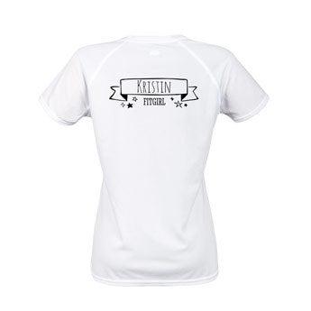 Sportshirt bedrucken - Damen - M - Weiß