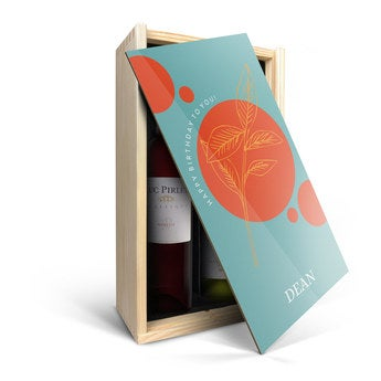 Luc Pirlet Merlot i Chardonnay - w skrzynce na wino