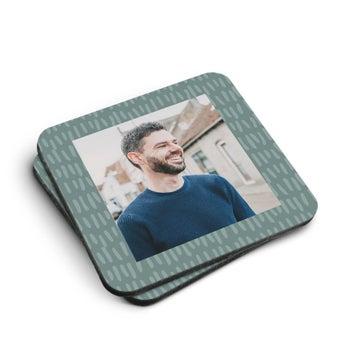 Coasters Hardboard Square (2 stk)