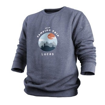 Custom sweatshirt - Menn - Indigo - L