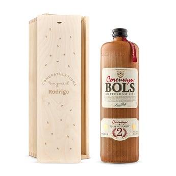 Bols Corenwijn en caja de madera grabada