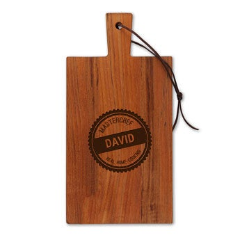 Wooden cheese board - Teak - Rectangle - Portrait (S)