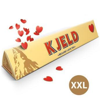 Barra de Toblerone XXL amor- Super tamanho! - 4,5 kg