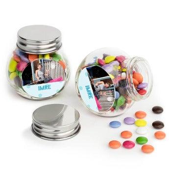 Csokoládécseppek üvegekbe - 40 db