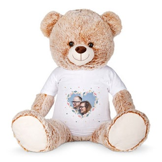 Personalised cuddly toy with photo - Mega bear