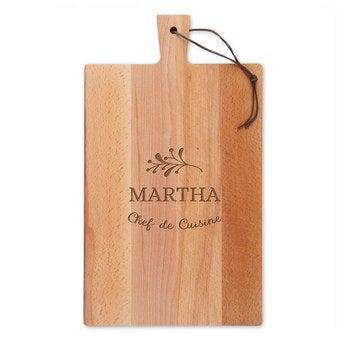 Dřevěná deska na sýr - buk - obdélník - portrét (L)