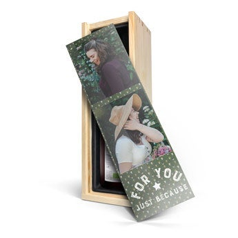 Vinho com caixa personalizada - Yalumba Organic Shiraz