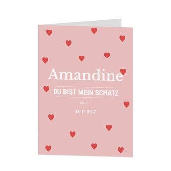 Valentinstag Karte - XL - Vertikal