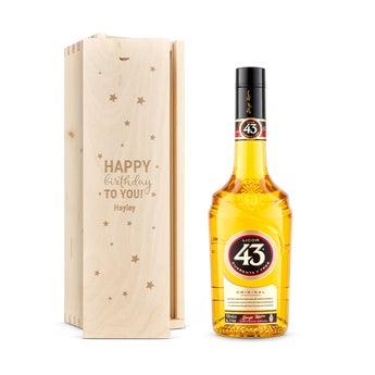 Licor 43 liqueur in engraved case