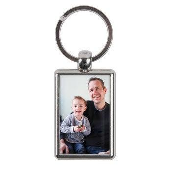 Llavero con foto 2 caras - Rectangular - Día del Padre