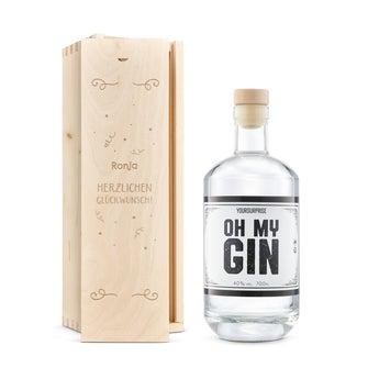 YourSurprise Gin - mit gravierter Holzkiste