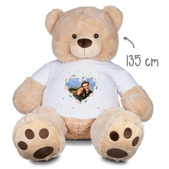 Personalised cuddly toy with photo - Giant bear - 135 cm