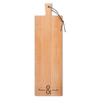 Dřevěný servírovací talíř - bukové dřevo - podlouhlé - portrét (M)