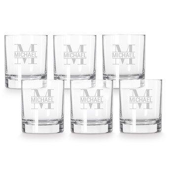 Whiskey glas - 6 stuks