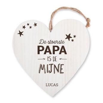 Vaderdag houten hart