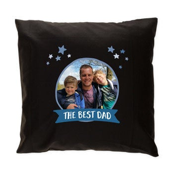 Father's Day cushion - Black