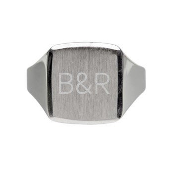 Silver signet ring - Men (21)