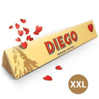 Barra de Toblerone XXL - Amor - 4.5 kg